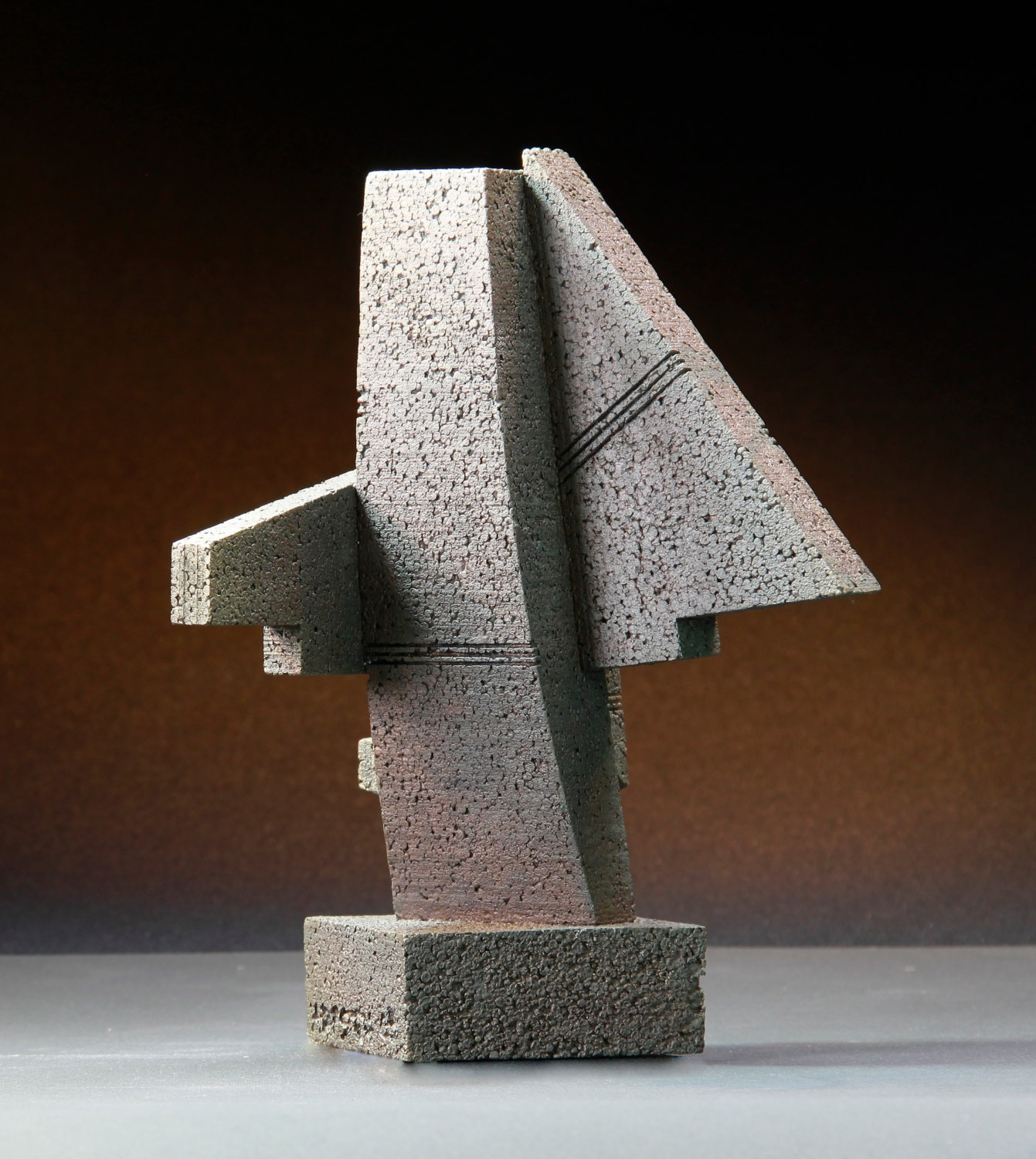 Cheyenne monolith abstract sculpture maquette architectural for Architecture geometrique