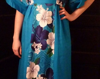 Vintage 1960's BJ's Fashions Hawaii Maxi Dress, size small