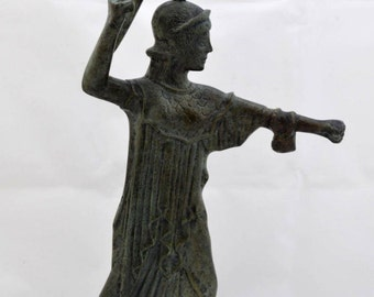 Athena Promachos bronze sculpture statue