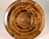 """This segmented hand crafted wooden bowl is made of Walnut, Cherrry, it has 88 pieces and is 11.25"""" wide x 5.25"""" high # 42"""