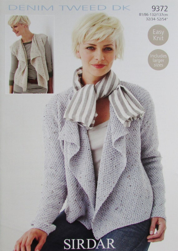 Knitting Pattern For Waterfall Jacket : Sirdar Ladies Waterfall Cardigan and by TheKnitOfYourLife on Etsy