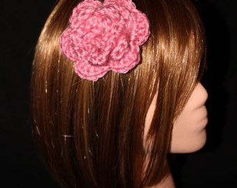 Pink Rose Hair and Accessory Clip