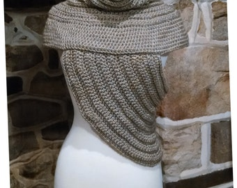 Huntress Crochet Pattern Katniss Archer's Cowl Vest Inspired by Catching Fire Hunger Games Poncho Shrug Sweater Knit