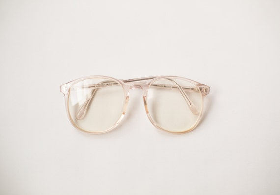 Clear Frame Glasses Vintage : Vintage 90s Clear Frame Eyeglasses Hipster by LastWaltzVintage