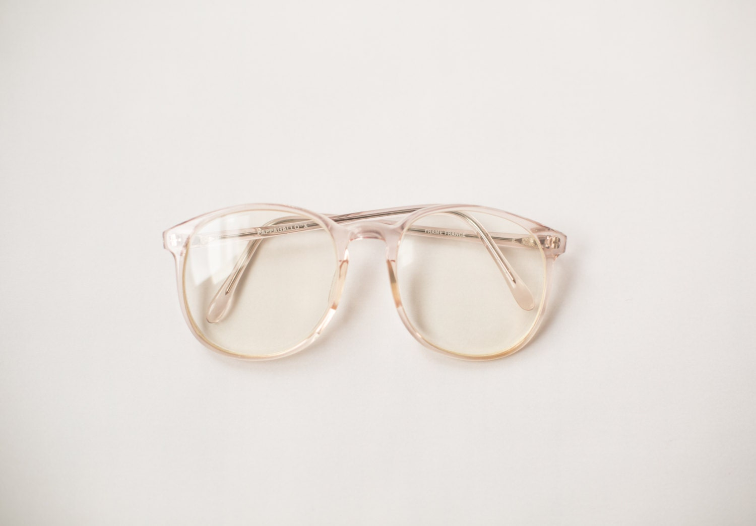 Clear Frame Glasses Hipster : Vintage 90s Clear Frame Eyeglasses Hipster by LastWaltzVintage