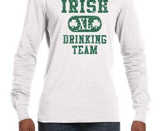 St Patrick's Day Men's Shirt Irish Drinking Team Lightweight Hoodie Tee T-Shirt A8727D-3512