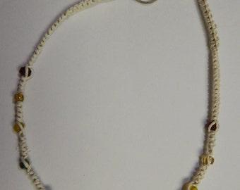 Rainbow hemp necklace