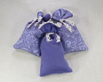 Set of 3 Rustic Lavender Sachets