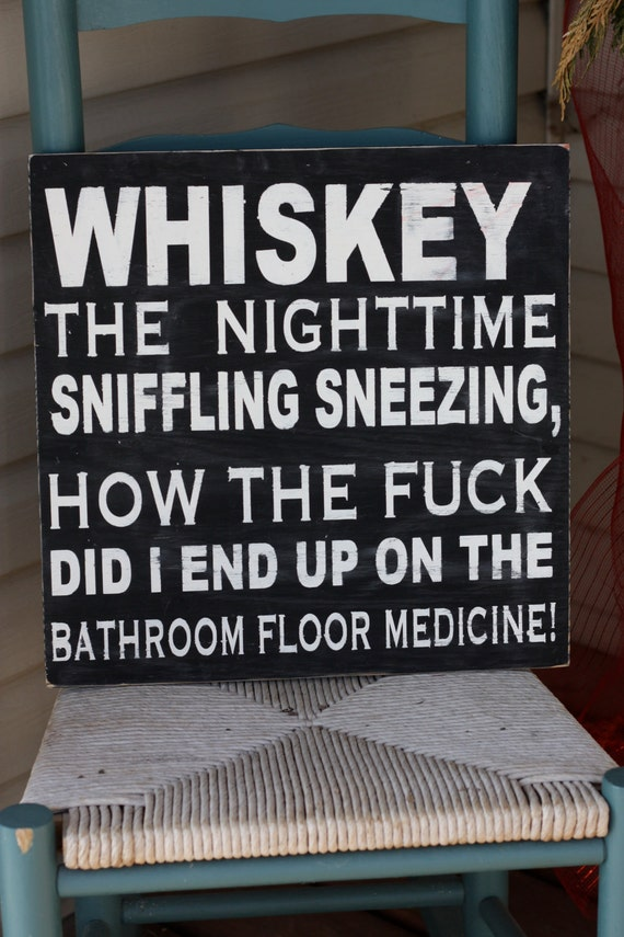 Wall Art Quotes For Pubs : Whiskey sign wooden hand painted home by mamasayssigns