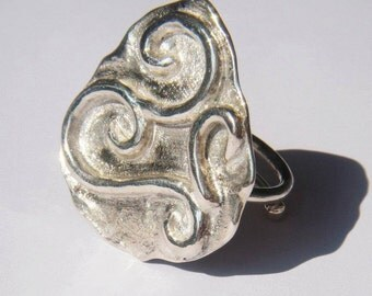 Iliad - sterling silver ring.