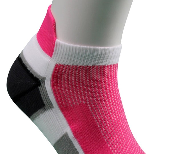 Samson® Running Pink Ankle Socks Sport Walking Athletic