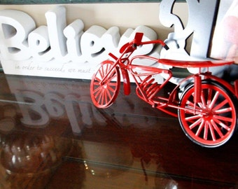 Vintage Wee Red Bicycle for your retro room! Check me out!