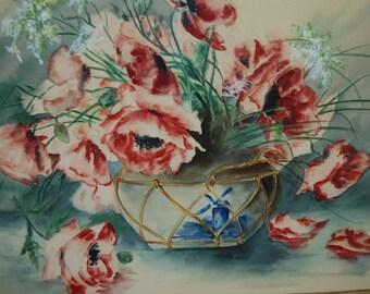 Watercolor Botanicals Original Painting