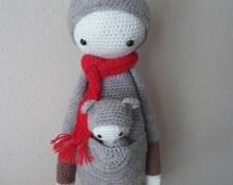 Lalylala Kira the Kangaroo-Crochet Kangaroo-Crochet Doll-Amigurumi Doll-Lalylala Doll-stuffed kangaroo