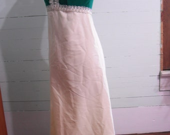 Vintage 1970s  dress, floor length, sleeveless, sequined, sparkly, valour