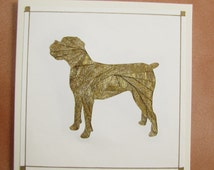 Iris Folded Boxer Dog Greeting Card