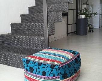 "Square - modern fabric pouf - puf ottoman - floor cushion (16""x16""x12""-40x40x30cm)"