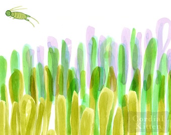 Grasshopper digital giclee print