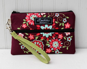 Padded Wristlet Mini Purse- Love Memento
