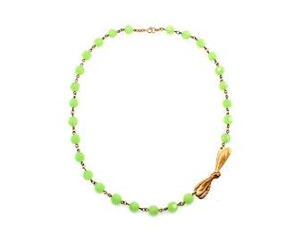 Sale Necklace, Mint Green Statement Necklace, Green Necklace, Insect Jewelry, Insect Necklace, Bug Necklace, Dragonfly Jewelry, Dragonflies