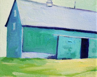Barn Painting Original Oil Painting archival PRINT