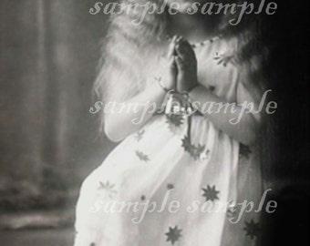Vintage Christmas Angel no5 - instant PRINTABLE digital Download - GYPSY -Bohemian - vintage victorian angel - photo transfer