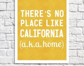 California Typography Print California Love California Wall Decor California Artwork State Poster California Is Home Quote California Art