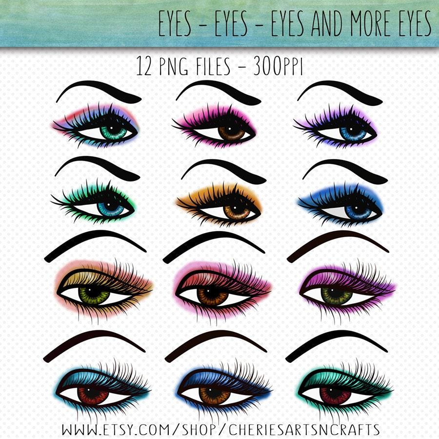 Clip Art Makeup Clip Art makeup clip art etsy eyes graphics make up on eye clipart girl digital png files digitals