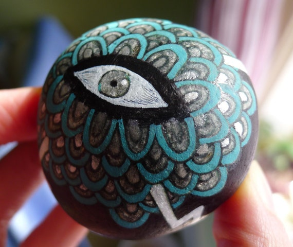 Eye of the Magnetic Storm -- Illustrated stone stormcloud super strong magnet monster