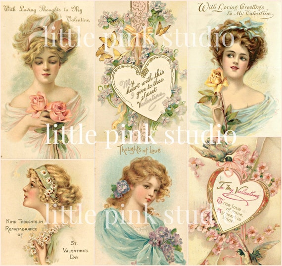 Victorian Valentine Collage Sheet