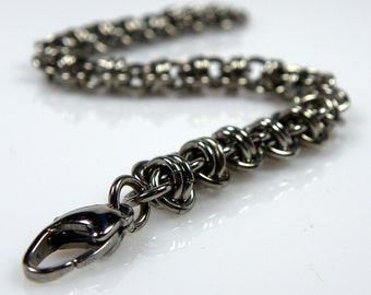 Double Barrel Chainmaille Bracelet - Stainless Steel Bracelet - Metal Jewlery - Chain Bracelet - Chainmail Jewelry - Non Tarnish Jewelry