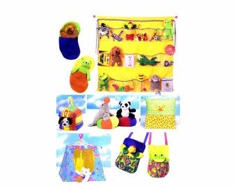 Bean Bag Animal Pals Accessories Butterick 5507 Sewing Pattern UNCUT