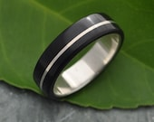 Wood Ring Asi Coyol Ring - organic wood ring with sterling silver inlay