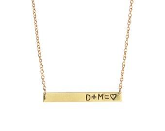MATH LOVERS Bar Necklace