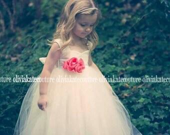 Ankle Length Flower Girl Dress