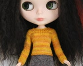 Blythe doll Sarah Sweater knitting PATTERN - long sleeve sweater top for Neo - instant download - permission to sell finished items