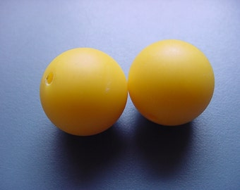 Here Comes the Sun Yellow Vintage Lucite Beads