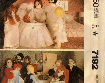 McCall's 7192 Dollhouse Size Family Parents, Grandparents, Children VINTAGE ©1980
