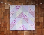 Custom Baby Quilt, Blanket. Choose Your 2 Colors and Types of Prints. Nursery Decor, Modern Quilt, Blanket, Baby Crib Bedding, Shower Gift.
