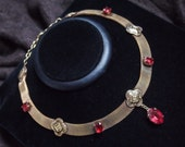 Romantic Cranach Style Mesh Necklace with a Victorian feel