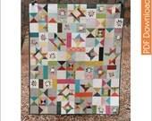 Modern Quilt Pattern - Starfall - PDF
