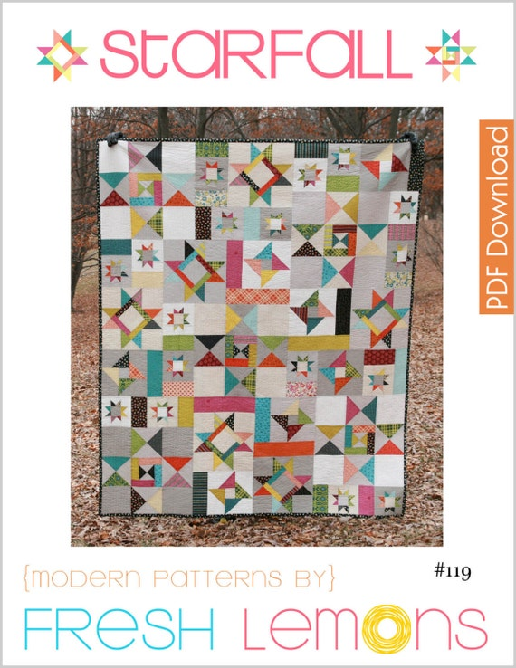 Modern Quilt Patterns Free Download : Modern Quilt Pattern Starfall PDF