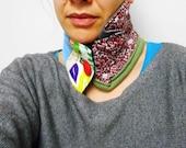 Burlesque  boho neckwrap, recycled materials TDCB