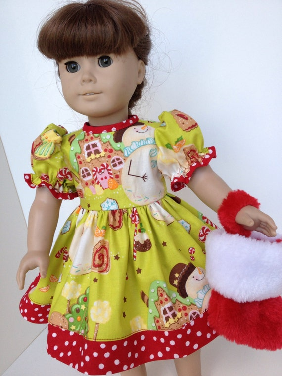 Clearance christmas cookie dress for the american girl doll