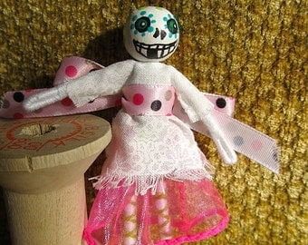Miniature Day of the Dead Halloween Doll