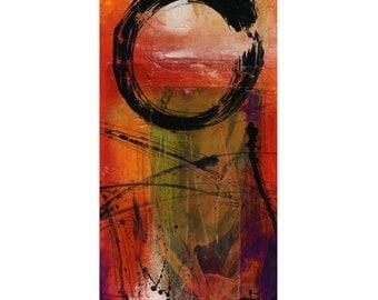 "Enso Painting, Zen Circle, Mixed Media, ""Enso No. vmm14"" Spiritual Zen Circle art archival print from original by Kathy Morton Stanion EBSQ"