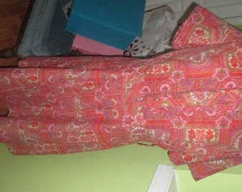 Understated FLIRTY Colorful Vintage Dress by Caldwell Casuals