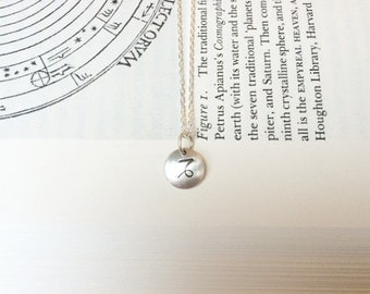 Astrologia Sterling Silver Capricorn Charm. Zodiac Jewelry. Dainty Astrology Charm Necklace. Personalized Birthday Gift. Bridesmaid Gift.