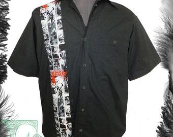 The Walking Dead Print Motif Shirt, Horror, Zombie, Psychobilly