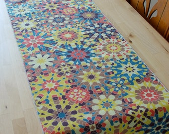 Palace Table Runner. Multicolor vibrant print